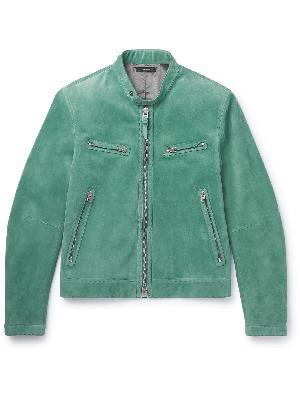 TOM FORD - Slim-Fit Suede Blouson Jacket