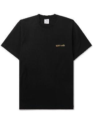 Vetements - Oversized Logo-Print Cotton-Jersey T-Shirt