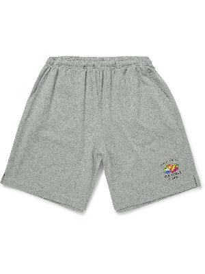 Vetements - Wide-Leg Printed Cotton-Jersey Shorts