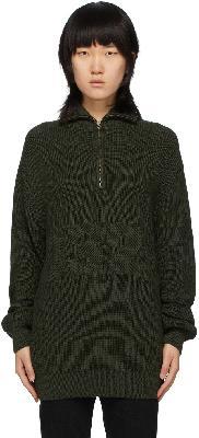 032c Green Troyer Half-Zip Sweater