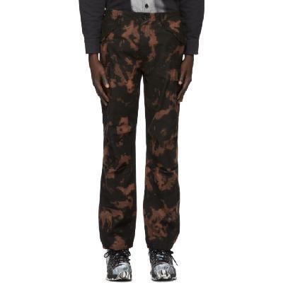 032c Black Bleached Cargo Pants
