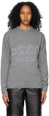032c Grey Wool Knit Reflective Sweater