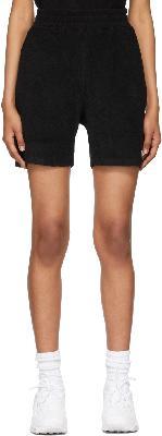 032c Black Terrycloth Topos Shorts