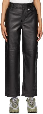 032c Black Leather Work Pants