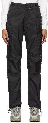 032c Black Nylon Cargo Pants