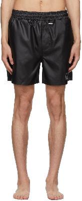032c Black Nylon Swim Shorts