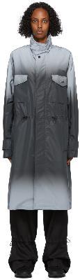 032c Black Reflective Gradient Coat