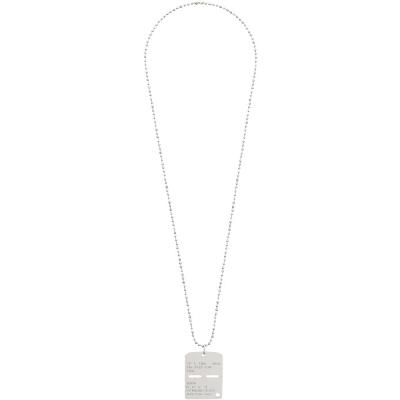 1017 ALYX 9SM Silver Military Tag Necklace