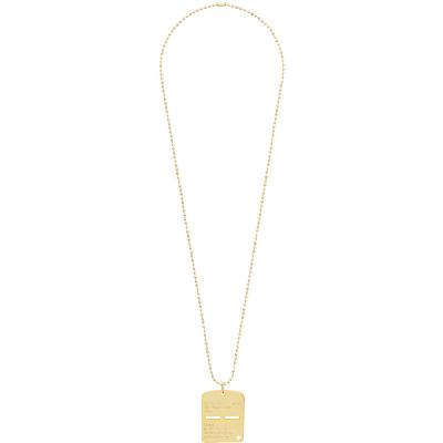 1017 ALYX 9SM Gold Military Tag Necklace