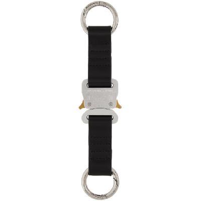 1017 ALYX 9SM Silver Leather Short Buckle Keychain