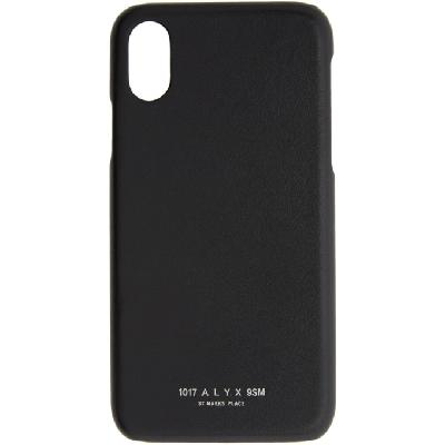 1017 ALYX 9SM Black iPhone XR Case