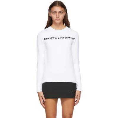 1017 ALYX 9SM White & Black 3D Logo Sweater