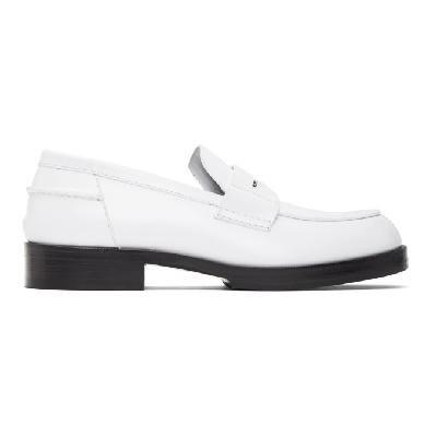 1017 ALYX 9SM White A Penny Loafers