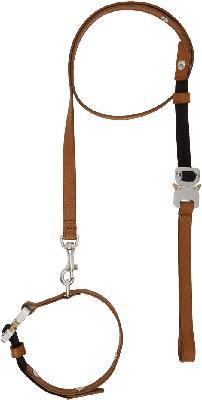 1017 ALYX 9SM Brown Small Dog Collar & Leash Set