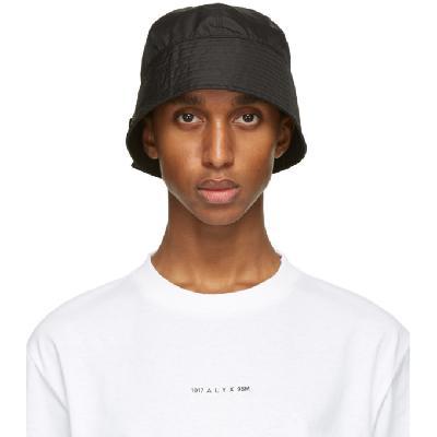 1017 ALYX 9SM Black Narrow Buckle Bucket Hat