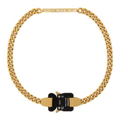 1017 ALYX 9SM Gold Buckle Necklace
