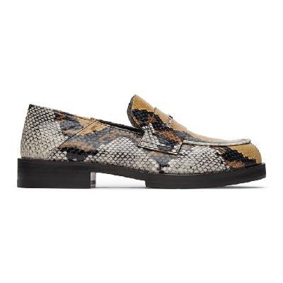 1017 ALYX 9SM Brown Snake Logo Loafers