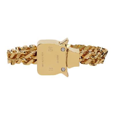 1017 ALYX 9SM Gold Mini Cubix Bracelet