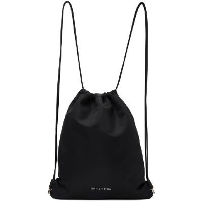 1017 ALYX 9SM Black Re-Nylon Drawstring Gym Backpack