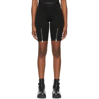 1017 ALYX 9SM Black Zippered Biker Shorts