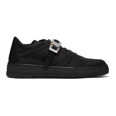 1017 ALYX 9SM Black Satin Buckle Sneakers
