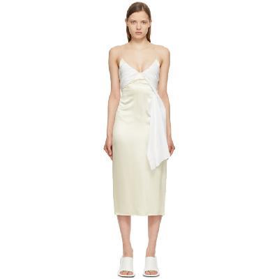1017 ALYX 9SM Beige & White Foulard Formal Dress