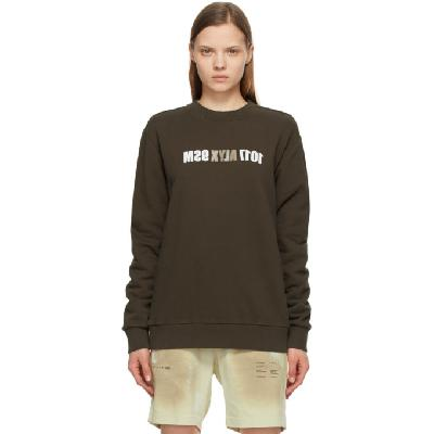1017 ALYX 9SM Brown Mirrored Logo Sweatshirt
