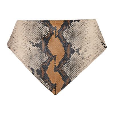 1017 ALYX 9SM Grey & Tan Leather Animal Print Bandana Scarf