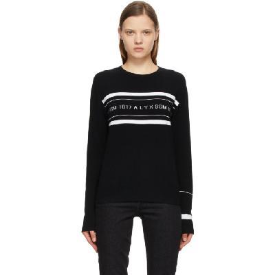 1017 ALYX 9SM Black & White Band Logo Sweater