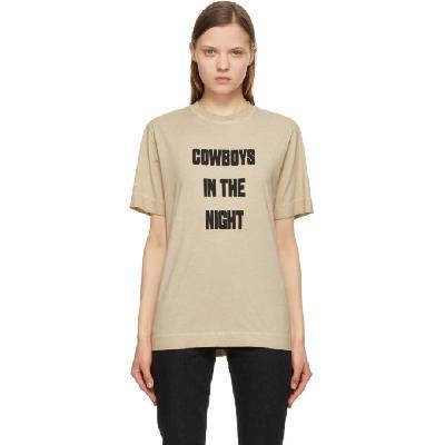 1017 ALYX 9SM Beige 'Cowboys In The Night' T-Shirt