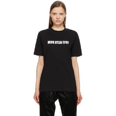 1017 ALYX 9SM Black & White Mirrored Logo T-Shirt