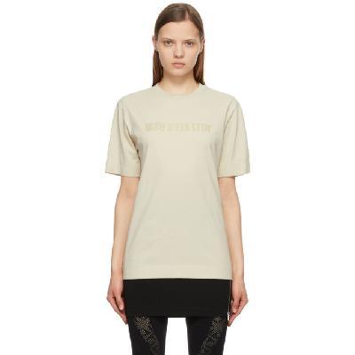 1017 ALYX 9SM Beige Mirrored Logo T-Shirt