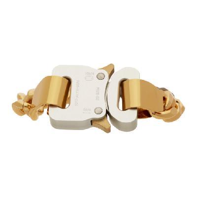 1017 ALYX 9SM SSENSE Exclusive Gold Colored Link Buckle Bracelet