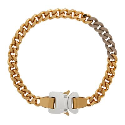 1017 ALYX 9SM SSENSE Exclusive Gold & Beige Colored Links Buckle Necklace