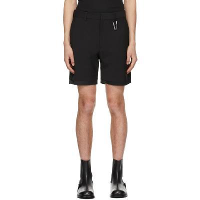 1017 ALYX 9SM Black 'A' Tailoring Shorts