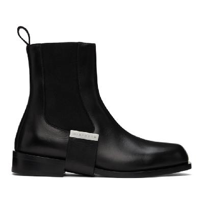 1017 ALYX 9SM Black Leather Strap Chelsea Boots