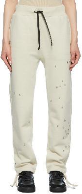 1017 ALYX 9SM Beige Studded Double Logo Lounge Pants
