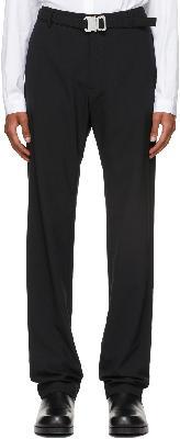 1017 ALYX 9SM Black Metal Buckle Suit Trousers