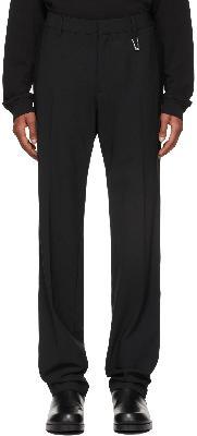 1017 ALYX 9SM Black Elastic Waist Tailoring Trousers