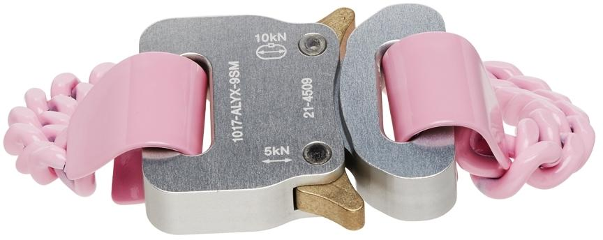 1017 ALYX 9SM Pink Chain Link Buckle Bracelet