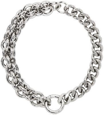 1017 ALYX 9SM Silver Mini Chunky Chain Necklace