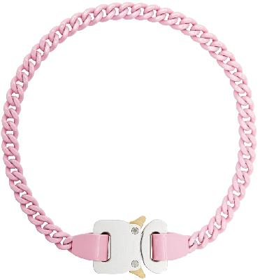 1017 ALYX 9SM Pink Chain Link Buckle Necklace