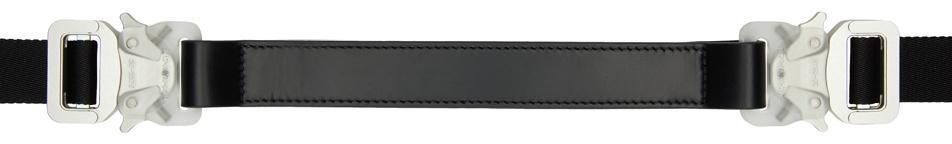 1017 ALYX 9SM Black Medium Mixed Double Buckle Rollercoaster Belt