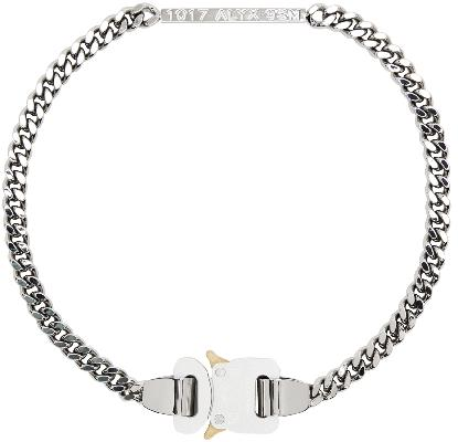 1017 ALYX 9SM Silver Chain Link Buckle Necklace