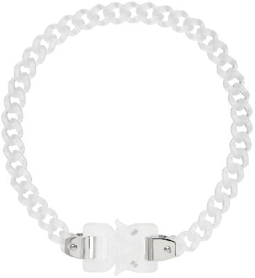 1017 ALYX 9SM Transparent Chain Link Buckle Necklace