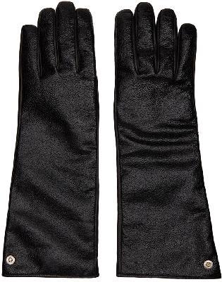 1017 ALYX 9SM Black Leather Printed Gloves