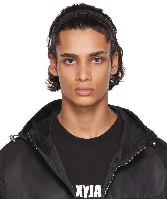 1017 ALYX 9SM Black Leather Headband