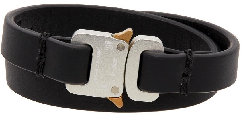 1017 ALYX 9SM Black Micro Buckle Cuff Bracelet