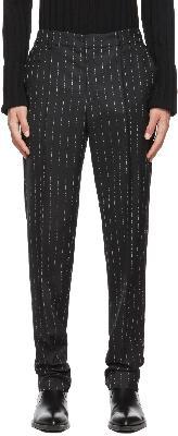 1017 ALYX 9SM Black Logo Pinstripe Trousers