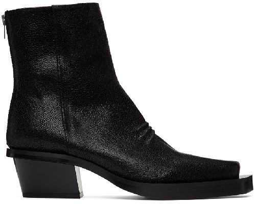 1017 ALYX 9SM Black Leone Zip Boots